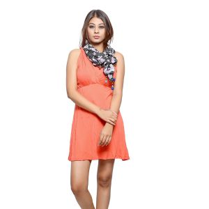 Buy Grishti Women's Printed Scarf With Pom Poms Ggg25printed-printed online