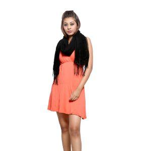 Buy Grishti Women'S Shimmer Black Stole online