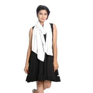 Buy Grishti Women's White Scarf Vedic-white online
