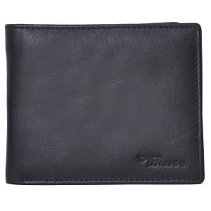 Buy Tamanna Men Black Genuine Leather Wallet (6 Card Slots) online
