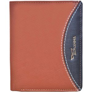 Buy Tamanna Men Tan, Black Genuine Leather Wallet (9 Card Slots) online