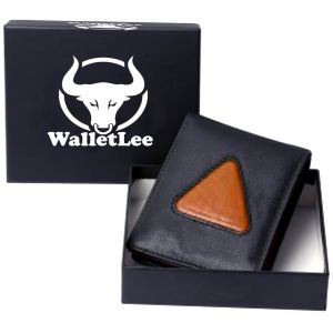 Buy Walletlee Men Black, Tan Genuine Leather Wallet (8 Card Slots) online