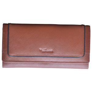 Buy Tamanna Women Tan Genuine Leather Wallet (8 Card Slots) online