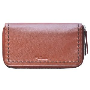 Buy Tamanna Women Tan Genuine Leather Wallet (10 Card Slots) online