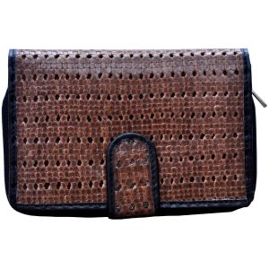 Buy Tamanna Women Brown Black Leather Wallet online
