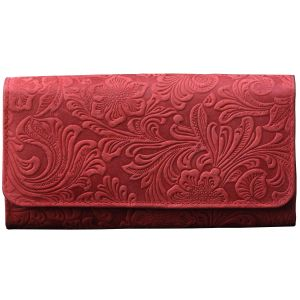 Buy Tamanna Women Red Leather Wallet online