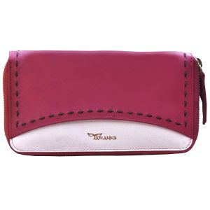 Buy Tamanna Women Pink White Leather Wallet online