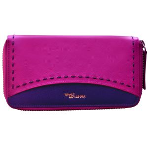 Buy Tamanna Women Pink Blue Leather Wallet online