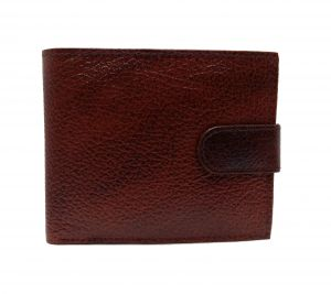 Button Cherry Brown Textured Premium Mens Genuine Leather Wallet By GetSetStyle GBGLW-CBR-7052