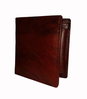 Magical Brown Textured Premium Book Style Mens Genuine Leather Wallet By GetSetStyle GSSRE-BRN-7063