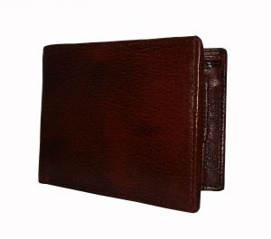 Magical Brown Textured Premium Mens Genuine Leather Wallet By GetSetStyle GSSRE-BRN-7066