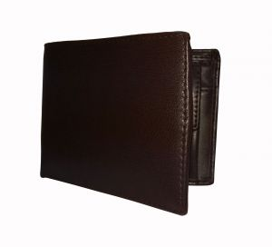 Dark Brown Solid Textured Mens Premium PU Leather Wallet By GetSetStyle GSSREPU-DBR-7086