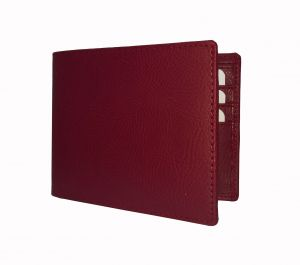 Charming Red Textured Mens Premium PU Leather Wallet By GetSetStyle GSSREPU-RED-7074