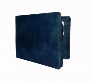 Cerulean Blue Textured Mens Premium PU Leather Wallet By GetSetStyle GSSREPU-SBU-7076