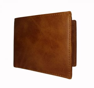 Amber Tan Textured Mens Premium PU Leather Wallet By GetSetStyle  GSSREPU-TAN-7085