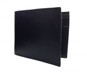 Obsidian Black Flap Style Premium Quality PU Leather Wallet By GetSetStyle PPU-BLK-7032