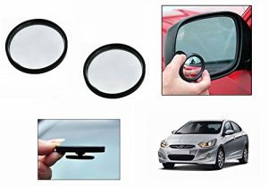 Buy Autoright 3r Round Flexible Car Blind Spot Rear Side Mirror Set Of 2-hyundai Verna Fluidic online