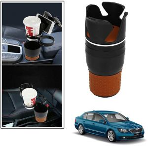 Buy Autoright 5-in-1 Car Cup / Car Sunglass / Car Mobile Holder Storage Cup For Skoda Superb online