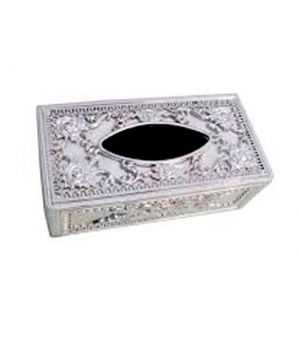 Buy Autoright - Castle Designer Tissue Holder Box Silver Colour online