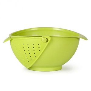 Buy Pack Of 2 Innovative Rinse Bowl And Strainer In One, Drainer, Colander Strainer online
