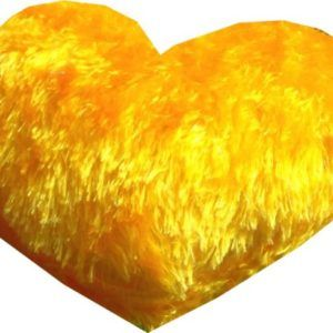 Buy Harry & Honey Little Heart Yellow Cushion (10 Inches) online