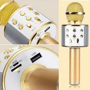 Buy Q10s Wireless Bluetooth Karaoke Microphone Speaker Mini Home Ktv For Android Ios online
