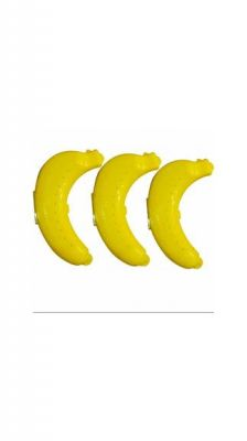 Buy Kreative Kudie Banana Case Set Of 3 Food Container Storage For Fruit Banana - Plastic Food Storage (pack Of 3, Yellow) online