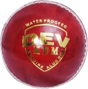 Buy Kdm Sports Dev Cricket Ball - Size 3, Diameter 7 Cm (pack Of 1, Red) online