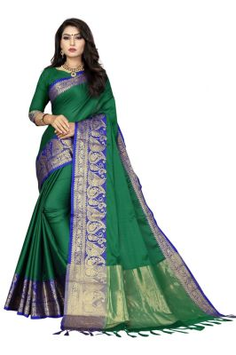 Buy Mahadev Enterprise Multicoloured Soft Cotton Saree With Running Blouse Pics online