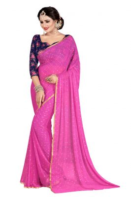 Buy Mahadev Enterprises Light_Pink Fancy Nazneen Weaving Saree With Unstitched Blouse Pics online
