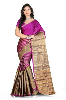 Buy Mahadev Enterprises Pink Colour Art Silk Saree With Blouse Mbwa1502g online