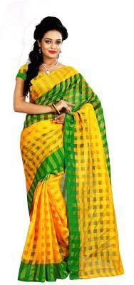 Buy Mahadev Enterprises Green Colour Art Cotton Saree Mkv_101 online