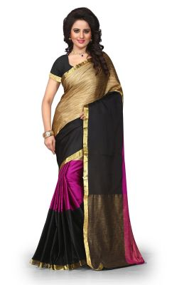 Buy Mahadev Enterprises Multicolor Cotton Silk Saree With Unstitched Blouse Pics Pf10 online