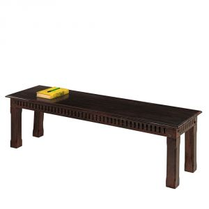 Buy Inhouz Sheesham Wood Hunter Bench (mahogany Finish) online