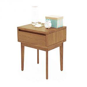 Buy Inhouz Sheesham Wood Vherine Bedside Table (teak Finish) online