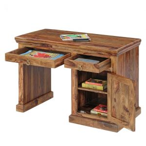Buy Inhouz Sheesham Wood Century Study Table (teak Finish) online