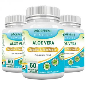 Morpheme Aloe Vera 500mg Extract 60 Veg Caps - 3 Bottles