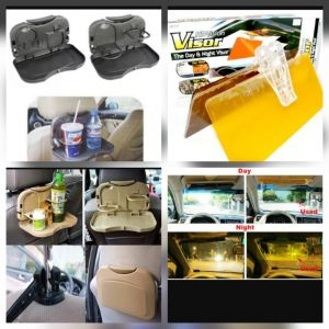 Buy 1 X Multifunction Car Tray + 1 X HD Vision Visor For All Cars online