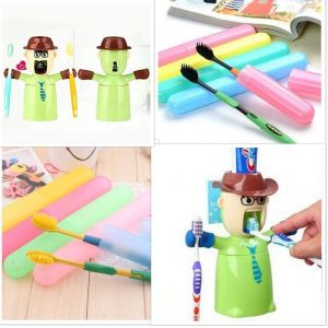 Buy 5 X Bathroom Tooth Brush Cover + 1 X Warrior Toothpaste Dispenser online