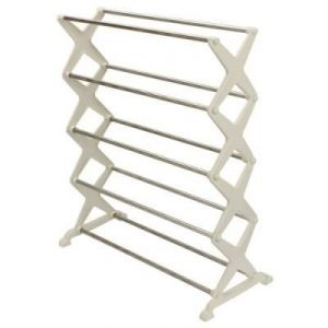 Buy Shoe Rack Durable With Aluminium Rod & Plastic Base (5 Racks) online