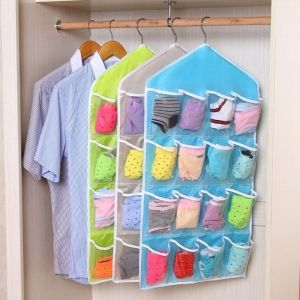 Buy 16 Pocket Clear Shoe Rack Door Hanging Package Hanger Storage Organizers online