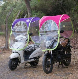 Buy Homebasics Diy Scooter/bike Umbrella All Seasons Polyester Rainy Summer For All 2 Wheeler online