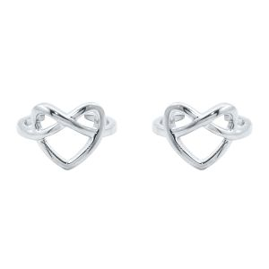 Buy Silver Dew 925 Pure Silver Heart Toe Ring In Pair Of Two Sdto010 online