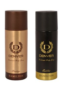 Buy Denver Hamilton Prestige Caliber Deodorant Body Spray ( Pack Of 2 ) - An190 online