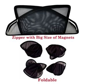 Buy Premium Quality Foldable, Zipper & Magnetic Car Sun Shades/ Curtain For Mahindra Kuv100 -set Of 4 online