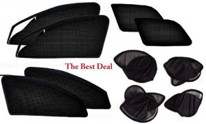 Buy The Best Deal Zipper & Magnetic Foldable Car Sun Shades/ Curtain For Maruti Omni -set Of 6 online