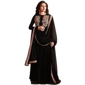 Buy Bollywood Replica Drashti Dhami Black Georgette Party Wear Anarkali Suit -114f4f07dm online