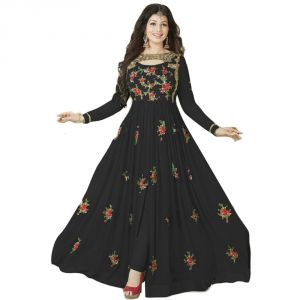 Buy Bollywood Replica Designer Beautiful Maroon Flower Printed Long Anarkali Suitsemi-stitched Suit ( Bottom Unstitched) 116f4f21dm online