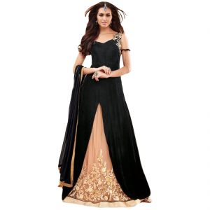 Buy Bollywood Replica Party Wear Graceful Georgette And Net Partywear Anarkali Suit 125f4f01dm online