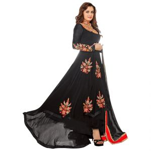 Buy Bollywood Replica Dia Mirza Black Georgette Indian Stylish Designer Anarakli Wedding Party Salwar Kameez.136f4f03dm online